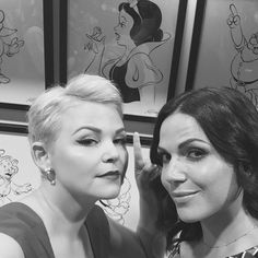 "Lana Parrilla: ""Ginnifer and I hanging with Snow White. #OnceUponATime #D23Expo"""