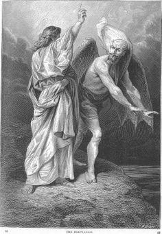 Alexandre Bida - Illustrations of the Life of Christ-The temptation