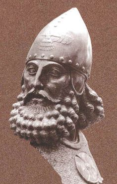 Assyrian Staues in Museums: Sargon II,anothe assyrian king 721-705  BCE