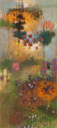 Temple of Aesthetic Action | pastel on paper | 40 x 20"