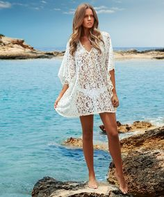 In Quality Strong-Willed 2016 Sexy Pareo Roupa De Banho Sarong Tunic Off Shoulder Lace Mini Dress Swimsuit Cangas De Praia Crochet Bikini Beach Cover Up Excellent