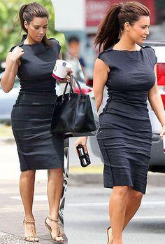 love the teased hair and dress- kim kardashian hair, dress