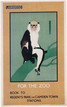Baltimore Maryland Zoo Monkey United States Travel Advertisement Art Poster