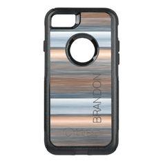 Custom Stylish Modern Watercolor Stripes Pattern OtterBox Commuter iPhone 7 Case - vintage gifts retro ideas cyo