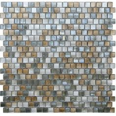 Opal Grey and Gold Glass Mosaic Tiles (Pack of (Gatsby Offset Square Glass Mosaic Tile) Glass Subway Tile, Glass Mosaic Tiles, Stone Mosaic, Mosaic Floors, Online Tile Store, Glass Installation, Tile Stores, Mosaic Pieces, Bath Tiles