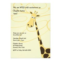 459 best giraffe birthday party invitations images in 2018 giraffe