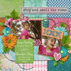 Pictures of my daughter.  Kit used: Life Is Beautiful by Tami Miller Designs available at https://www.pickleberrypop.com/shop/manufacturers.php?manufacturerid=147  Template by Kimeric Kreations