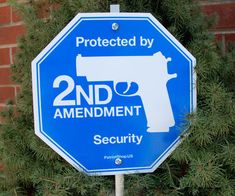 Deter any would-be burglar from entering your home by informing them that you exercise your right to bear arms with the 2nd Amendment security yard sign. Once they catch a glimpse of the security sign in your yard, they'll think twice about breaking in. 'Murica.