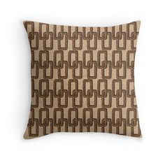 Cork Links #Masculine Pattern pillow by Dragonfire Graphics