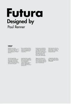 Futura: such a classic typeface.