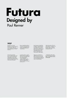 Futura: such a classic typeface. Very simple but effective poster.