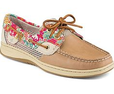 Sperry Top-Sider Bluefish Liberty Floral Print 2-Eye Boat Shoe