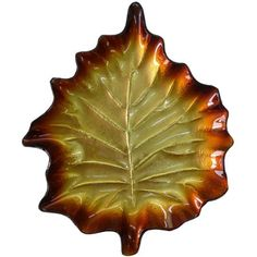 Better Homes and Gardens 3-Piece Set of Copper Glass Leaf Plates