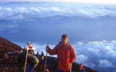Sunrise on the summit, Mt Fuji, Japan