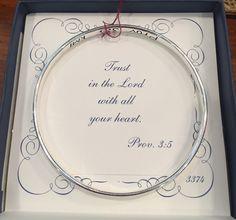 Fine sterling silver prayer bracelets. We can order your favorite verse! (251) 928-9931