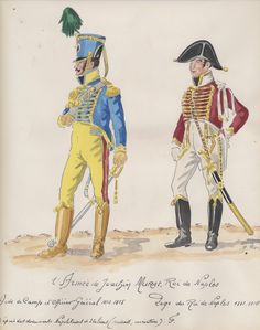 Naples ; 2e armee. 1814-15. Aide de camp d'officier general, Page du Roi de naples.