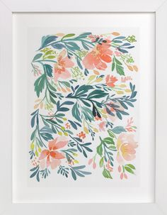 """""""Dancing Peonies"""" by Natalie Malan in beautiful frame options and a variety of sizes."""