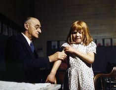 Texas schoolgirl receives typhoid vaccine in 1943 [[MORE]] I found the image in the Library of Congress photo database and cleaned it up in Photoshop. Library Of Congress Photos, Historical Photos, Old Photos, Vintage Photos, Poster Size Prints, Photo Wall Art, The Past, Texas