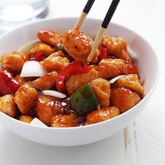 Exquisite sweet and sour chicken breasts – Chicken Recipes Chicken Thights Recipes, Asian Chicken Recipes, Asian Recipes, Healthy Recipes, Ethnic Recipes, Yummy Recipes, Sweet Sour Chicken, Appetizer Recipes, Easy Meals