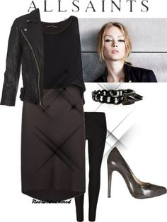 """""""Allsaints Outfit"""" by noorabduahmed ❤ liked on Polyvore"""