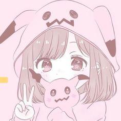 Anime Girl Pink, Manga Anime Girl, Anime Child, Anime Girl Drawings, Anime Couples Drawings, Anime Girl Cute, Kawaii Drawings, Kawaii Anime Girl, Cute Drawings