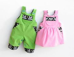 Lil CRITTERS Reversible Romper Baby Children Boy Girl by PUPERITA