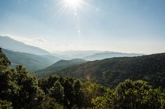 View over the highlands of Corsica