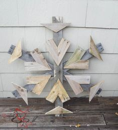 Reclaimed wood Pallet Snowflakes-