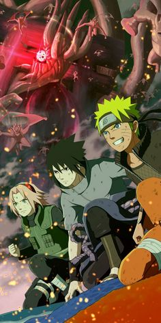 New Naruto Sasuke And Sakura Wallpaper Collection. Wallpaper Collection From New Series Of Naruto Boruto Episode. Wallpaper by WaoFam. Anime Naruto, Naruto Shippuden Sasuke, Naruto Sasuke Sakura, Naruto Art, Otaku Anime, Itachi, Sasunaru, Naruto And Sasuke Wallpaper, Wallpaper Naruto Shippuden