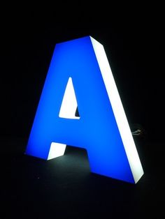 3D Letter Outdoor Indoor Illuminated LED Sign Backlit Shop Acrylic Customized | eBay