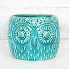 Ceramic Owl House Plant Pot Planter, Two Sizes