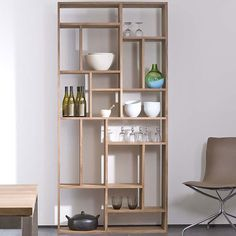 The stylish and functional Teak M Rack from the Belgian design house Ethnicraft. Naturally durable and stain resistant, these beautiful shelves will last for years to come.