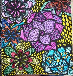 ColorIt Colorful Flowers Volume 1 Colorist: Becky Wilson #adultcoloring #coloringforadults #flowers #doodle #coloringpages