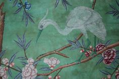 Detail from the Chinese wallpaper in the State Bedroom at Erddig, hung in the ©National Trust/Andrew Bush