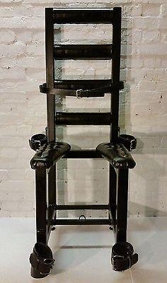 steel bondage chair bdsm fetish dungeon equipment restraint furniture 50 shades