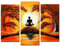 Quadro Meditando Natureza Cod 58