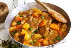 Using forequarter chops makes this slow-cooked lamb and vegetable stew budget-friendly!