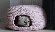 Crochet Cat Cave Free Pattern