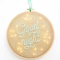 veilleuse bébé Good night DIY