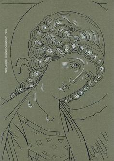 Byzantine Icons, Byzantine Art, Religious Icons, Religious Art, Writing Icon, Crafty Angels, Face Icon, Orthodox Icons, Sacred Art