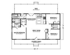 house plans home plans and floor plans from ultimate plans 1300 square - Small 3 Bedroom House Plans