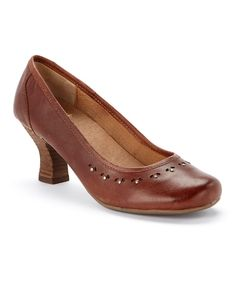 Look at this Crowne Comforteur Tan Regal Leather Pump on #zulily today!