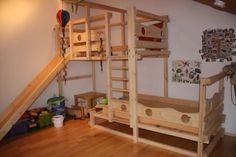 Bed With Slide, Palette, Kids Room Design, Kid Beds, Kidsroom, Kids Bedroom, House Plans, Sweet Home, Room Decor