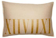 Roman 14x20 Pillow, Gold/Natural