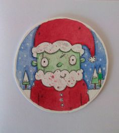 Zombie walker in a winter wonderland christmas holiday greeting card holiday greeting cards the ultra nifty super thrifty guide to handmade zombie goods m4hsunfo