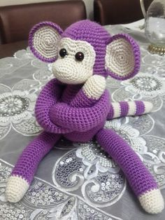 Örgü Oyuncak Maymun Yapılışı (Amigurumi) Merhabalar arkadaşlar bu hafta s… Knitting Toy Monkey Construction (Amigurumi) Hi friends this week we will tell you how to make a cute monkey knitting toy. Another name of the click technique used is Amigurumi ̵… Crochet Motifs, Crochet Patterns Amigurumi, Amigurumi Doll, Crochet Dolls, Free Crochet, Crochet Tree, Toy Monkey, Crochet Hook Set, Stuffed Animal Patterns
