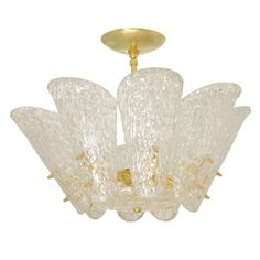 Kalmer Textured Wave Chandelier | From a unique collection of antique and modern  at http://www.1stdibs.com/