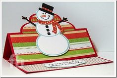 Snowman2Build created by Frances Byrne using Snowman2build – The Stamps of Life and Sizzix Elegant Stand-Ups Card Framelits