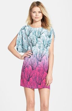 French+Connection+Print+Ombré+Silk+Shift+Dress+available+at+#Nordstrom
