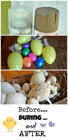 Spray painted faux Easter eggs - Debbiedoo's ~ http://debbie-debbiedoos.com/2013/03/spray-painted-faux-easter-eggs.html